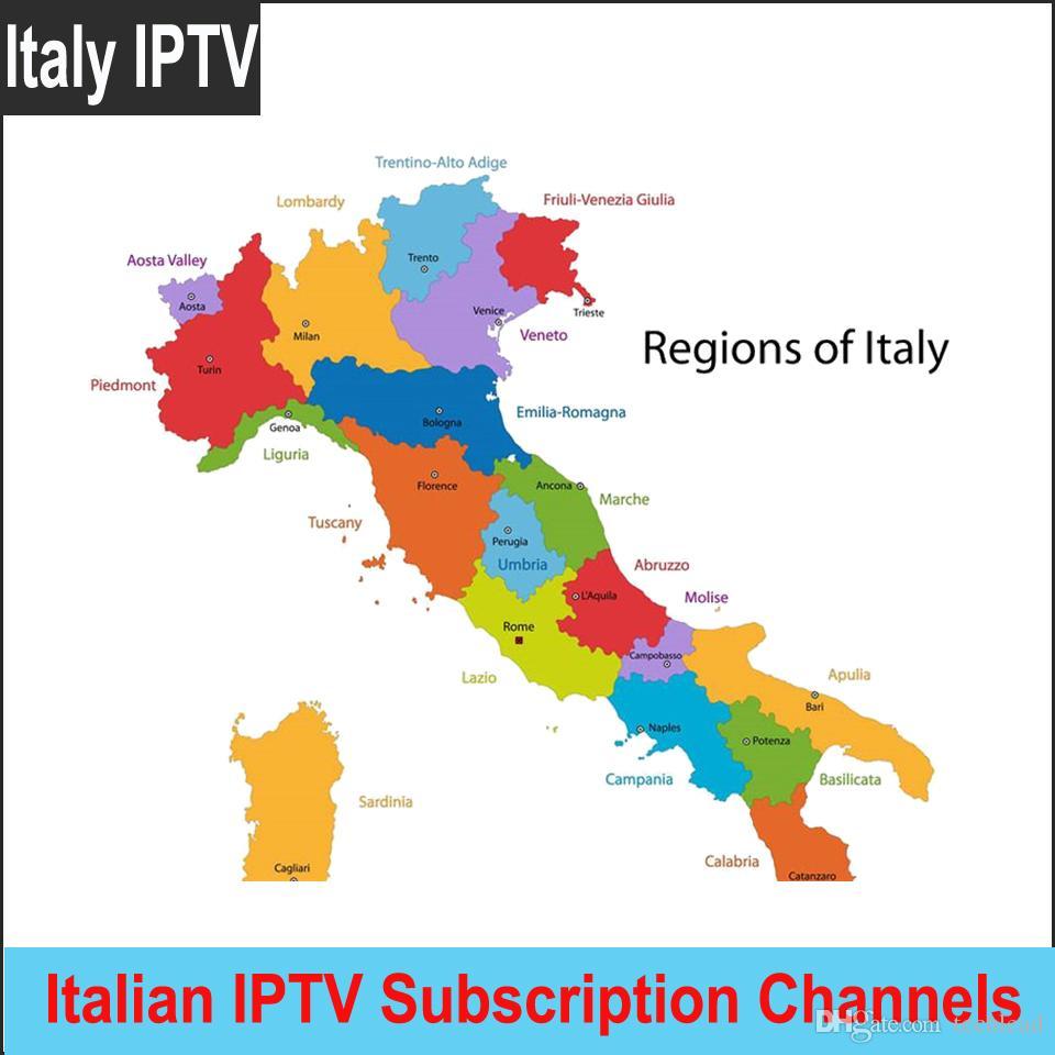English Map Of Italy.New Italian Full Iptv Subscription Italy Live Hd 4k Channels Italia Tv Program Vod M3u French Spanish Uk European Tv Package