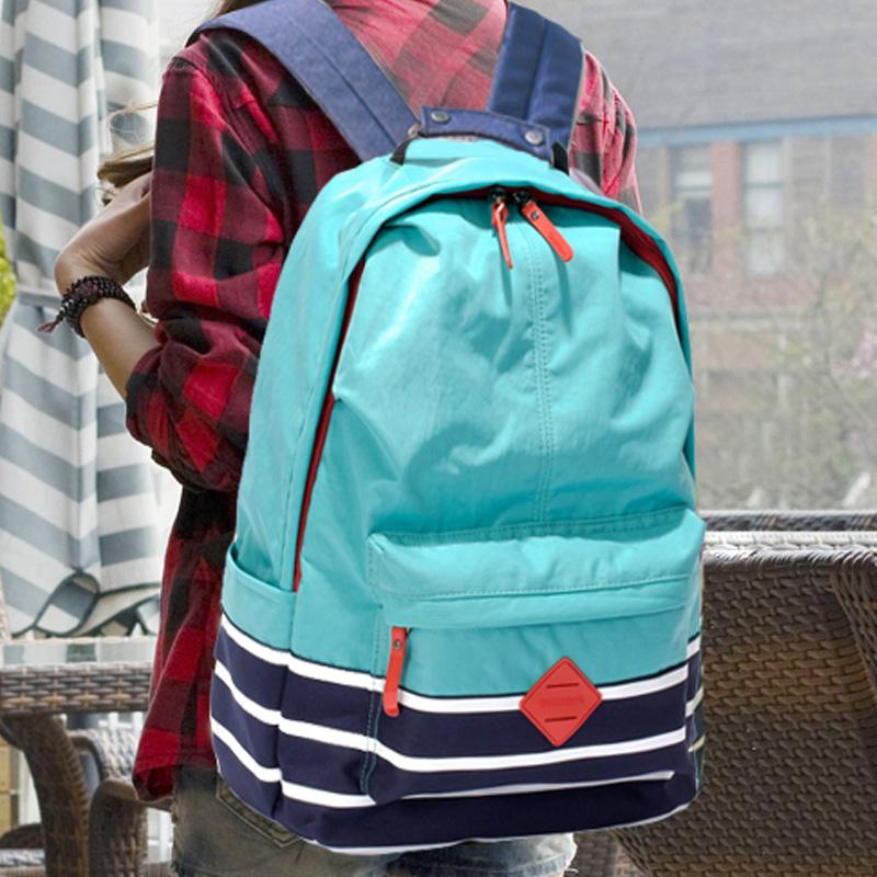 ae5d4972e2 2018 Newest Korean Fashion Backpack Style Canvas Leisure Concise Plain  Youth Unisex Students Appliques PU Nylon Bags Ogio Backpack Rucksacks From  ...