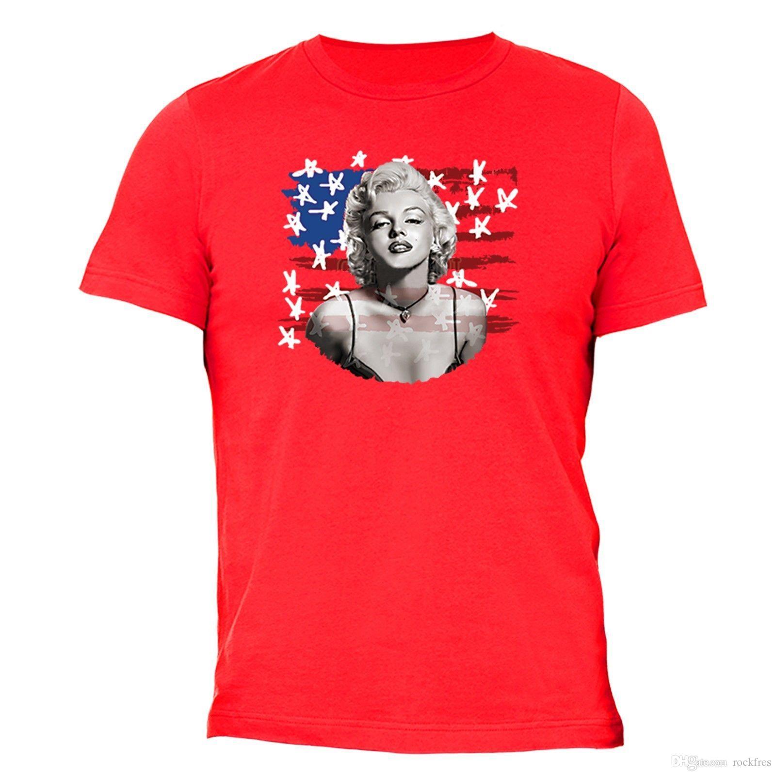 18038eaf7d8e7 Marilyn Monroe Tshirt Bikini Flag 4th Of July Clothing American Flag USA T  Shirt Best Deal On T Shirts That T Shirt From Rockfres, $10.19| DHgate.Com