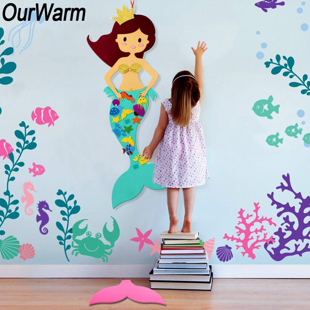 OurWarm Under The Sea Party Decorations Mermaid Game Fishing Net Artificial Starfish Marine Decoration Birthday Party Supplies