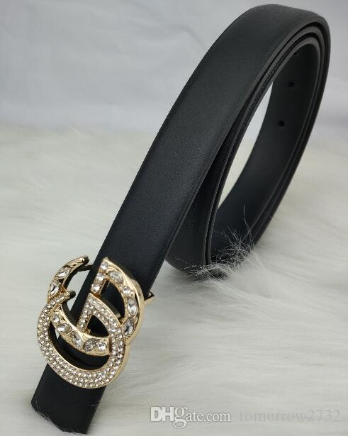 2019 diamond Belt Men and Women Fashion Belt Women Genuine Leather Belt More Color Buckle Leather free shipping