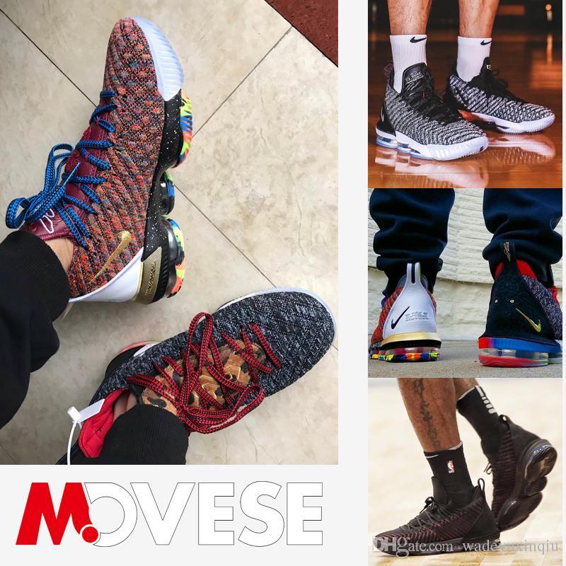 148bac19806c Satın Al 2019 Yeni Lebron 16 Basketbol Ayakkabıları Varış Sneakers 16 S  Erkek Casual King James Renkli Spor Ayakkabı LBJ EUR 40 46