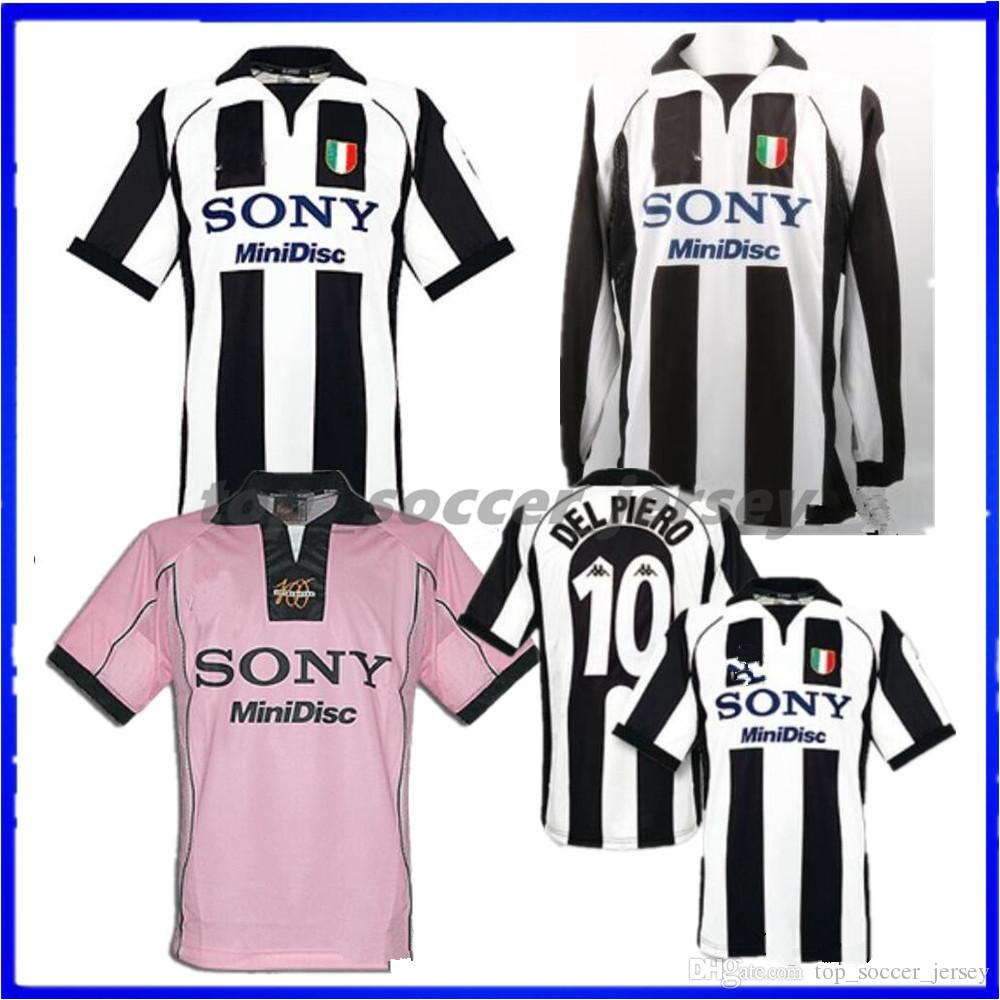 20c98b346 2019 1997 1998 Juventus ZIDANE RETRO SOCCER JERSEYS Away Pink Long Sleeve  DEL PIERO 97 98 JERSEY INZAGHI 9 LS FOOTBALL SHIRTS From Top soccer jersey