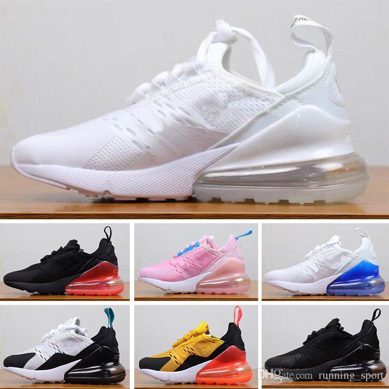 nike air max 27c filles garçons bébé en bas âge chaussures de course de luxe Designer Marque enfants chaussures enfants garçon et Gril Sport Sneaker