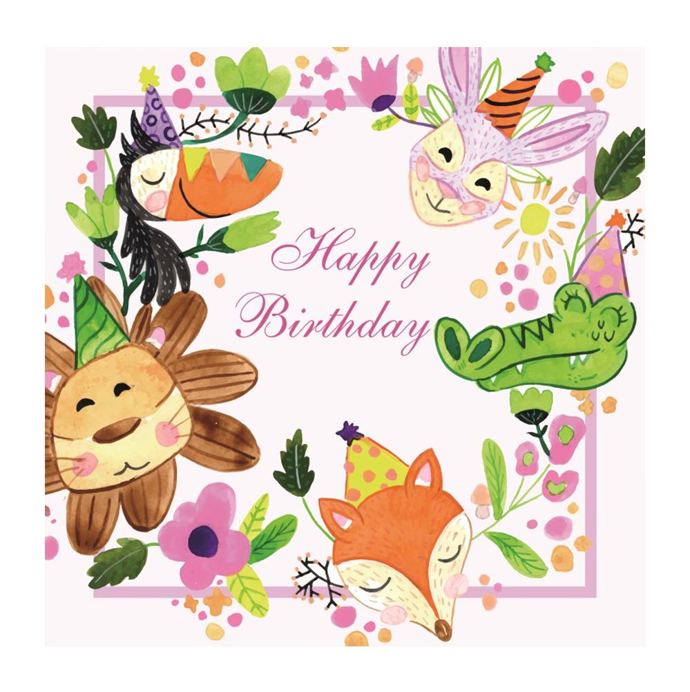 Grosshandel Laeacco Baby Cartoon Happy Birthday Party Tier Blume Kind Poster Foto Hintergrunde Fotografie Kulissen Fur Fotostudio Von Knite08 3731 Auf De