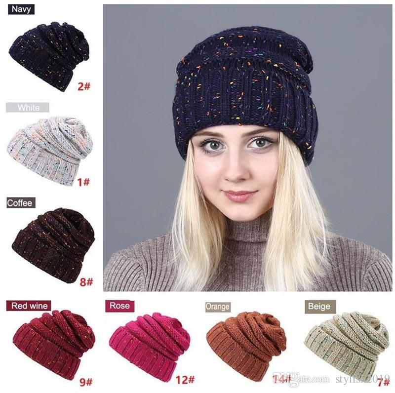 9deb71d699a Fashion Warm Hat Simple Winter Thick Hat Woman Knitting Woman Skullies  Beanies Female Warm Hat Baby Hat Crochet Baby Hats From Stylish2019