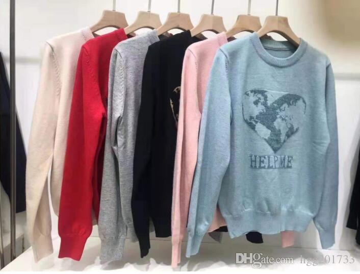 Knitwear Women 2019 Early Autumn New Fashion Love Pattern Knit Sweater Women Wholesale