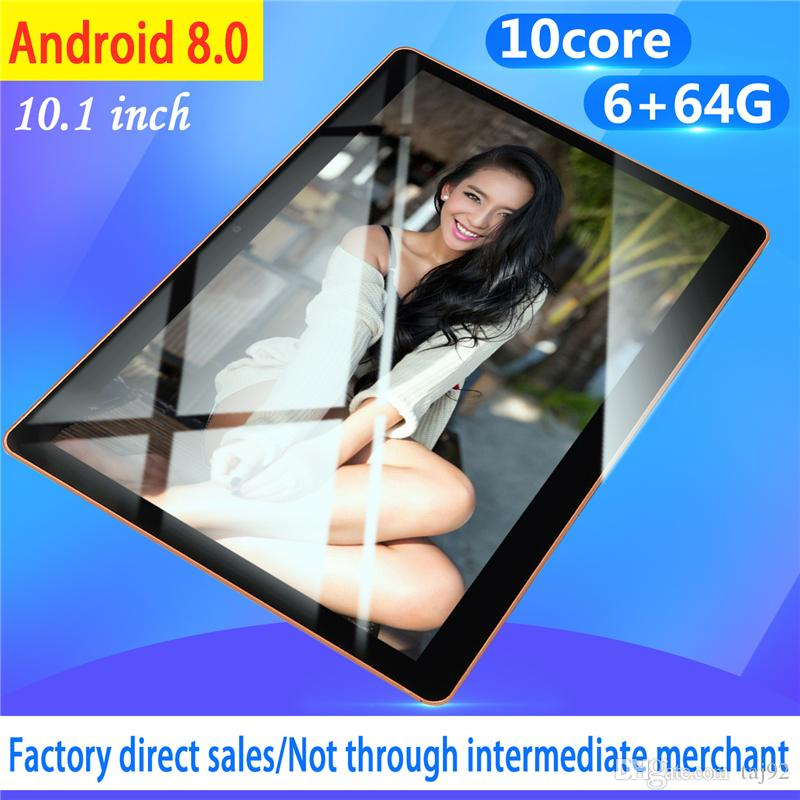 10.1 inch Tablet Computer 4GB RAM 64GB ROM Dual SIM Cards 4G WCDMA for Android 8.0 PC