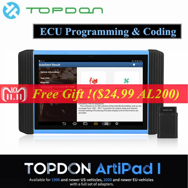 Topdon Artipad I Automotive Diagnostic Scanner Diagnostic Tool With ECU  Coding and Reprogramming for Vehicles