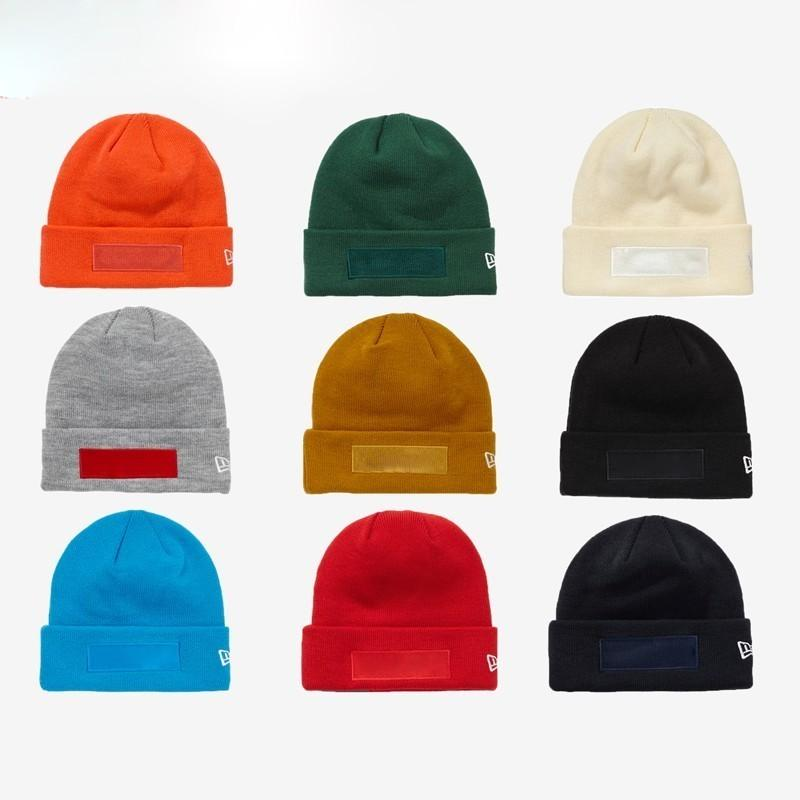 online store c93ed 80eec 2019 18FW New Era Box Logo Beanie Cap Knitted Cold Hat Cap Street Travel  Fishing Casual Autumn Winter Hat Warm Outdoor Sport Hats HFLSMZ047 From  Hanfei011, ...