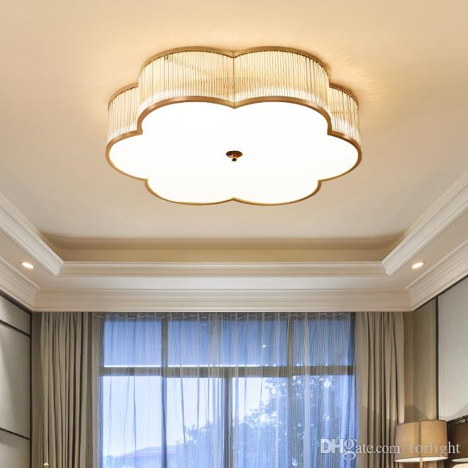 buy popular 1a709 9b0d6 New design modern crystal ceiling flower chandelier light gold luxury  crystal chandeliers lighting led ceiling lamp for bedroom study room