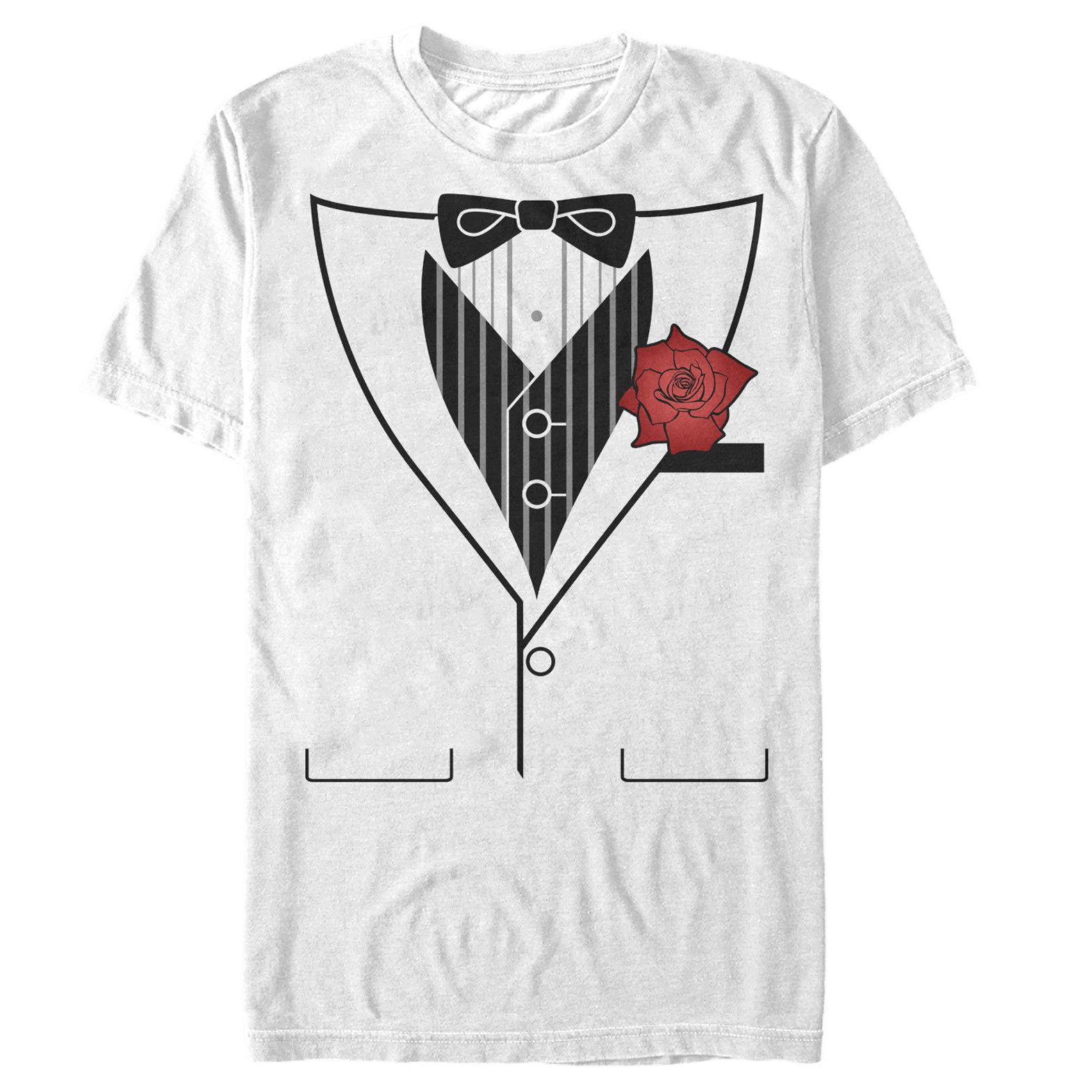 Lost Gods Valentines Day Tuxedo Flower Costume Tee Mens Graphic T