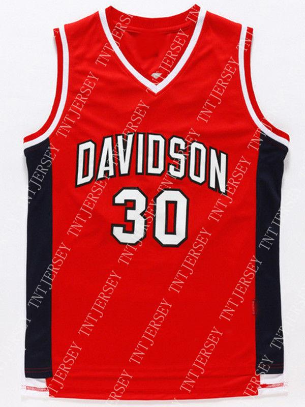 34301e8e47d 2019 Cheap Wholesale Steph Curry Jersey 30 Davidson College Wildcat Sewn  Basketball Jersey Customize Any Name Number MEN WOMEN YOUTH From Tntjersey