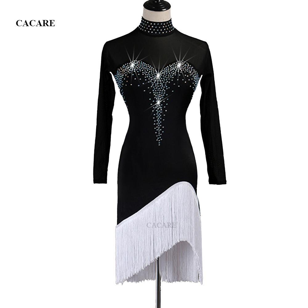 e99e5fd5d 2019 Latin Dance Dress Women Sale Dress Latina Salsa Dance Competition  Dresses Promotion D0953 Rhinestones Mesh Sleeve From Sarmit, $57.24 |  DHgate.Com