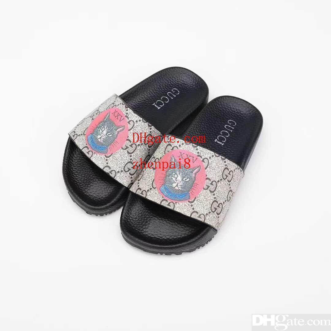 nouveaux styles 27b50 416cb Enfant maison pantoufle pour bébé garçon fille en cuir designer bébé  chausson chaussures 2019 sandales de mode d été Eu 26-35
