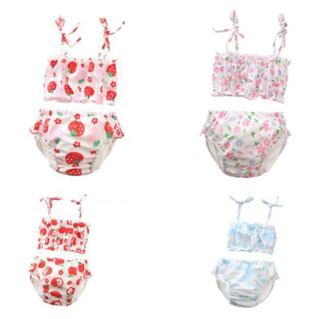 f474540c2 Compre Nuevas Flores Infantiles Para Niños Del Diseñador Del Bebé Niño Niña  Niños Dos Piezas Bikini Traje De Baño De Verano Chica Traje De Baño Playa  Bikini ...