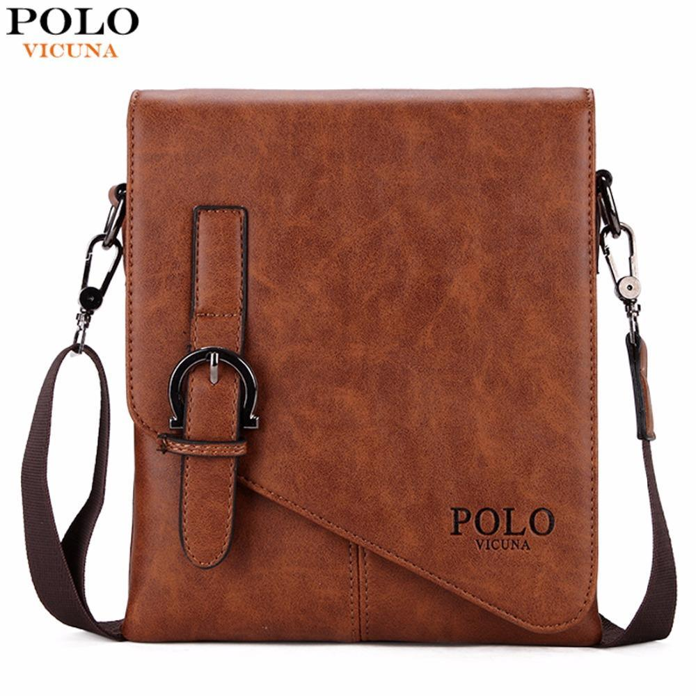 VICUNA POLO Unique Buckle Design Irregular Cover Open Mens Messenger Bag 2  Sizes Business Men Crossbody Bag Leather Man Bag Hot Cute Bags Purses For  Women ... 6d17108d73d55