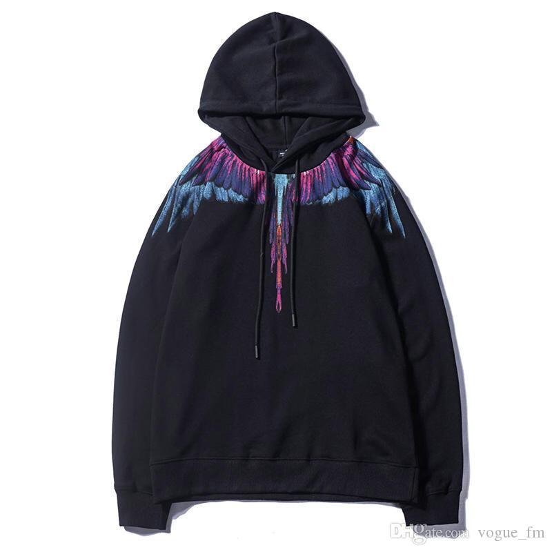 36672aee9f22 Marcelo Burlon Sudaderas con capucha para hombres y mujeres Sudadera con  capucha Alas Serpiente Impreso Jersey Streetwear Alas de relámpago de ...