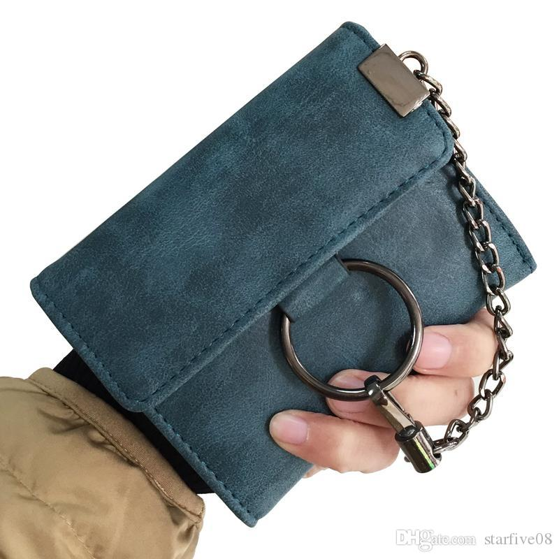 f89148c4850a5 New Women Wallets Brand Design Lady Purses Cards Holder Handbags Moneybags  Short Coin Purse Female Casual Chain Hasp Wallet Bags Online with  $32.53/Piece on ...