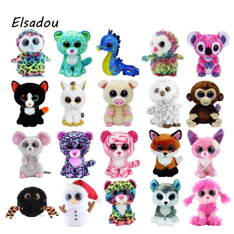 be67ea432f4 2019 Ty Beanie Boos Cute Owl Monkey Unicorn Plush Toy Doll Stuffed   Plush  Animals 6 15cm From Lakeball