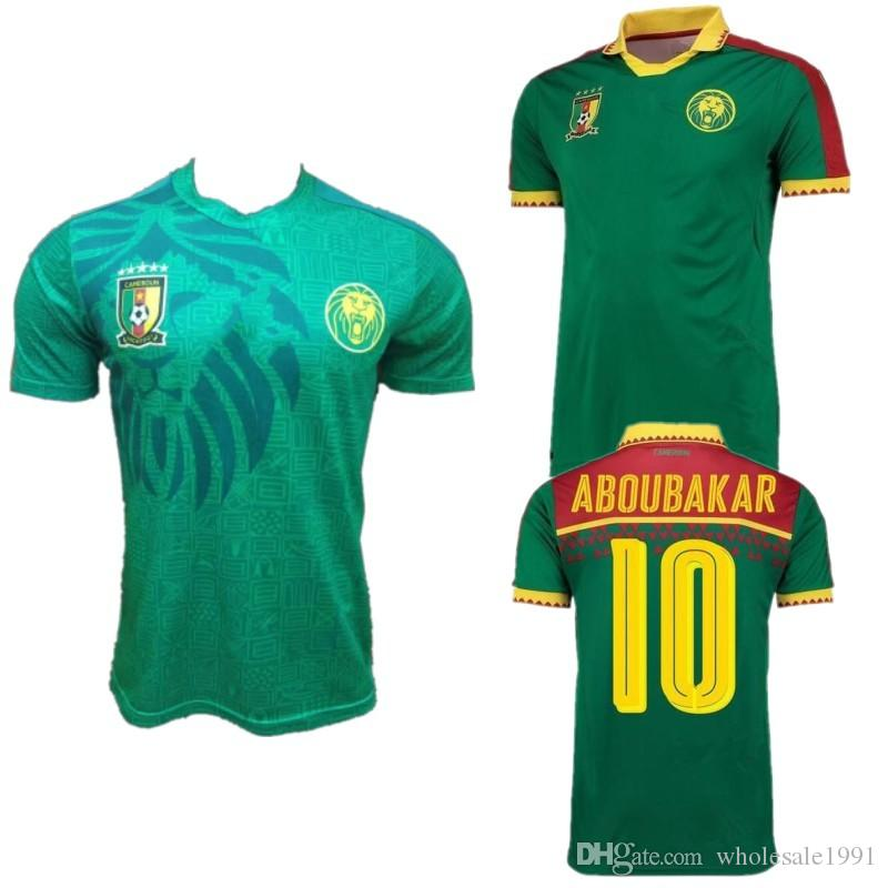 ddc19ad521a 2019 2020 Cameroon Soccer Jersey 19 20  10 ABOUBAKAR Soccer Uniform Mens  2016 17 ETO O Cameroon Home Green Football Shirt From Wholesale1991