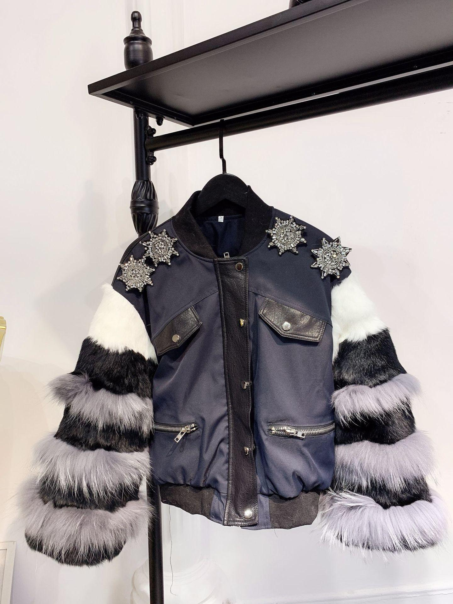 847 2018 Winter New Pattern Maomo Sleeve Splicing Spelling Skin Plus Cotton  Jacket Loose Coat Fur Jackets Parka Jackets From Dunhang08, $162.82|  DHgate.Com