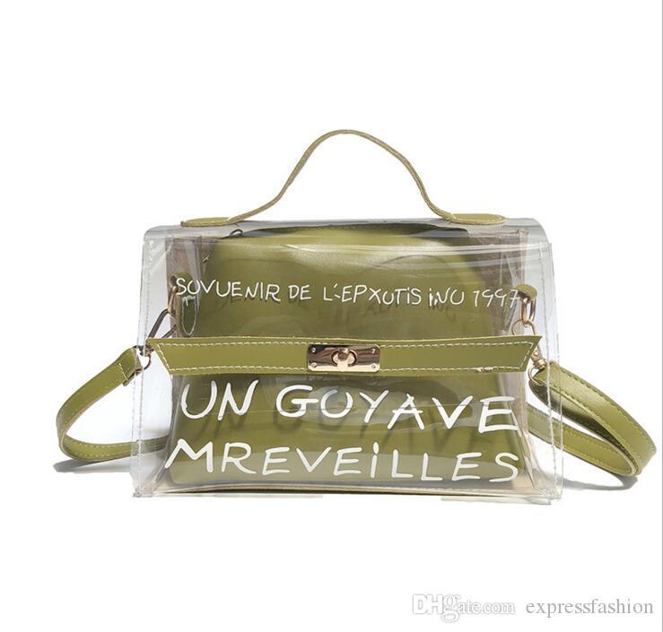 0af8bcc90 Compre 2019 Venta Caliente Holograma Bolso De Plástico Transparente Playa  Bolsa De Hombro Mujeres Tendencia Tote Jelly Moda PVC Clear Bag Divertido A  $17.72 ...