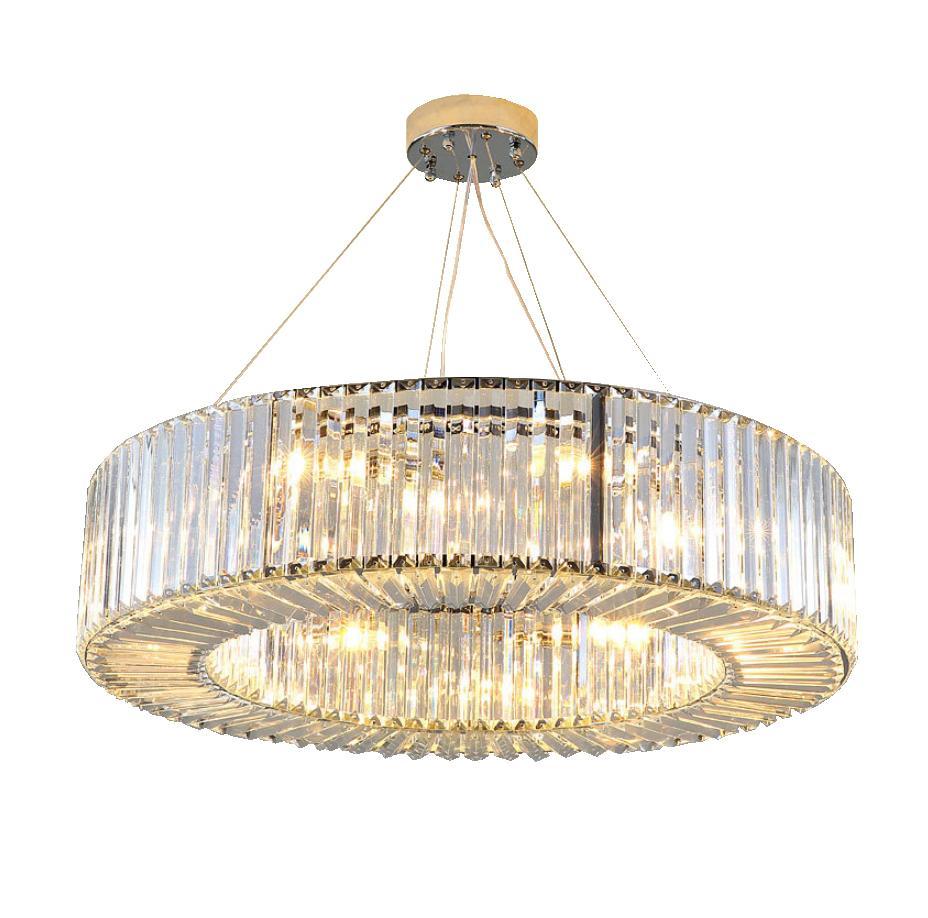 Modern luxury led chandelier lighting round crystal light fixtures living dining room led pendant lamp lustres de cristal best pendant lights pendant lamp