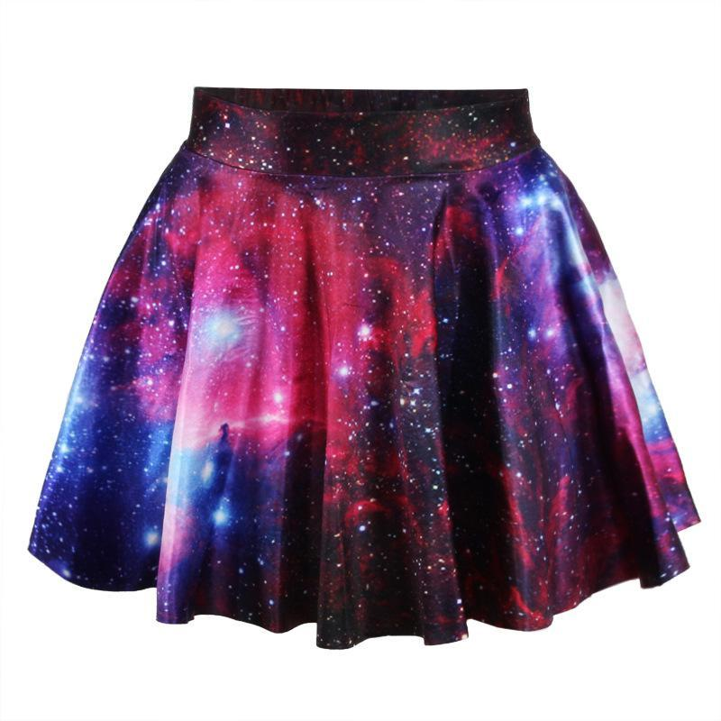 ... Polyester Satin Saias Tropical Leather Skirt Galaxy Space Digital  Printing The Mini Women Skirts Online with  12.03 Piece on Quhai s Store  8ddc29896