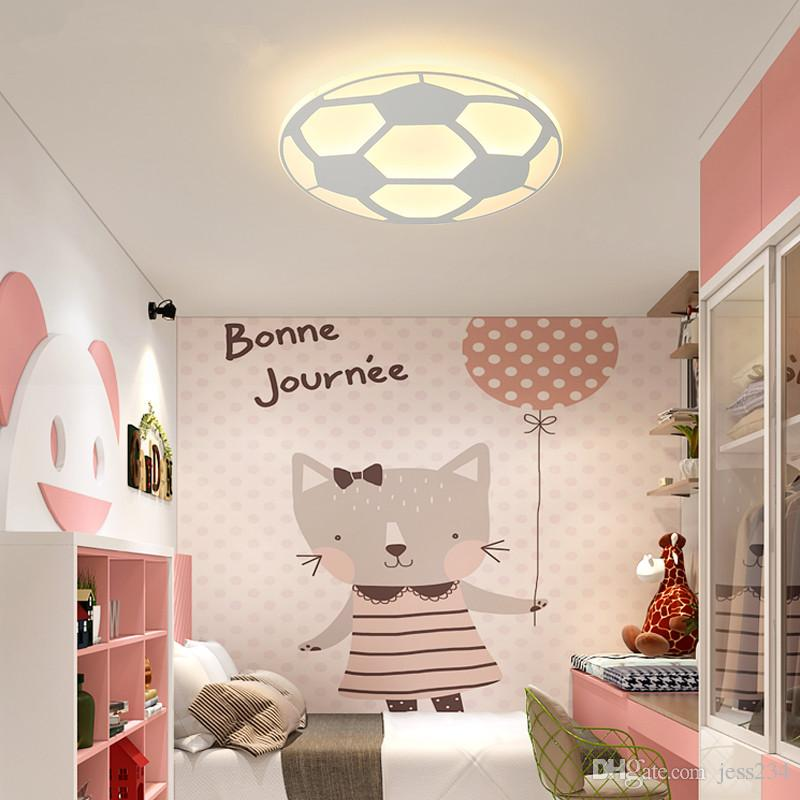 JESS New Designer LED Plafoniera per bambini con calcio per camera da letto  telecomando Ultrathin ceiling llight casa Decorative Paralume
