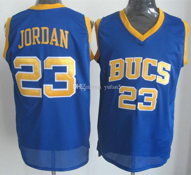 new product 08dda ce985 Michael MJ #23 Laney High School Buccaneers Retro Basketball Jerseys Mens  Stitched Custom Any Number Name
