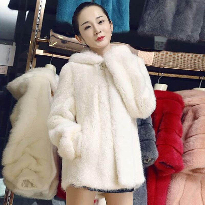 40b5f536f952 2019 Women Winter Coats Outerwear Slim Long Pink Red Jacket Thicken Warm Faux  Fur Coat Casual Shaggy Fake Fur Jacket Female Overcoats From Vanilla03, ...