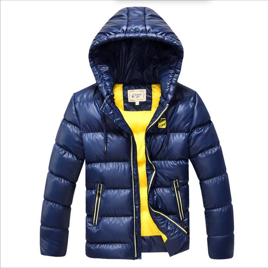 buy online 445ef 2c446 6-16 Jahre Kinder Jungen Wintermantel Jacke Mode Mit Kapuze Parkas Wadded  Oberbekleidung Verdicken Warme Oberbekleidung Jungen dicken Mantel