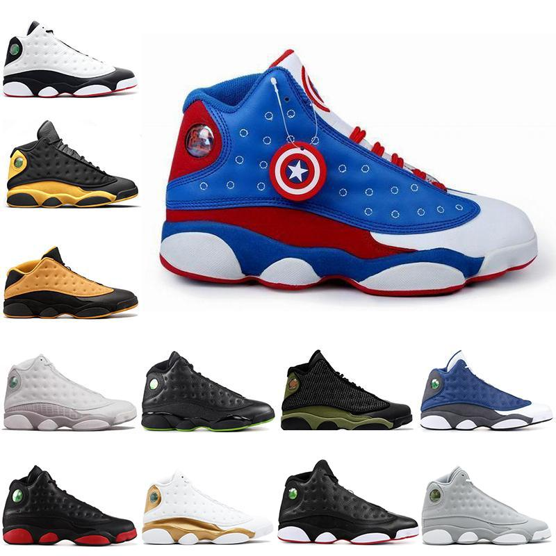 on sale 5e7ca 09dea Discount Captain America 13s Men Basketball Shoes Low Chutney Melo Class of  2002 black cat bred flint Outdoor Sports Sneakers Wholesale