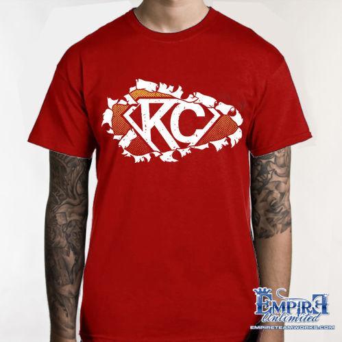 33e67415 KANSAS CITY CHIEFS T-SHIRT KC SHIRT 816 VS EVERYBODY FOOTBALL TEE b3 Funny  free shipping Unisex Casual tshirt
