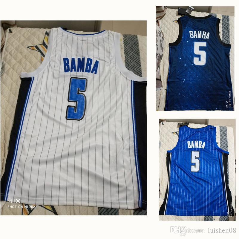 sale retailer 39a9e bb4c5 5 Mohamed mo bamba Team White blue Classic Basketball Jersey Mens 18-19 New  Rookie sky