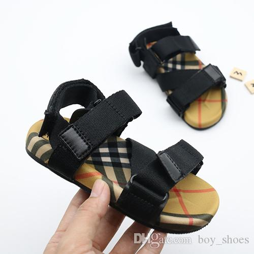 ad5be2500b1cb Kids Sandals Summer vintage Sandals Beach Slippers Slippers Casual  comfortable Slippers Summer Sandals black Red strip