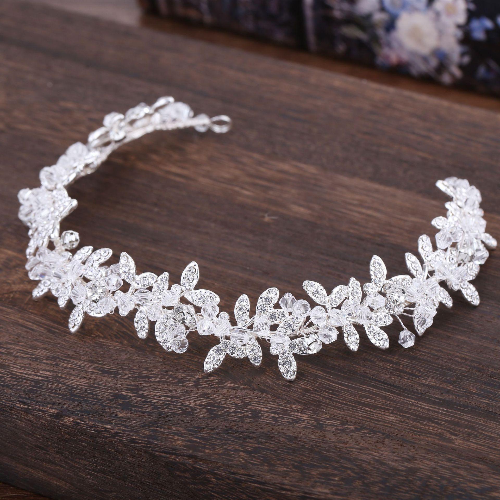 Wholesale Handmade Clear Crystal Beaded Wedding Tiara Bride Headbands Women  Prom Headdress Bridal Hair Jewelry Accessories UK 2019 From Guichenring 490039922c82