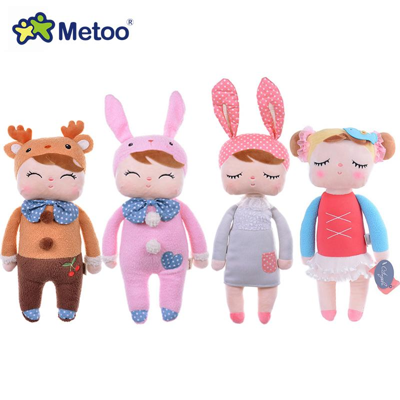 Genuine Metoo Angela Dolls Baby Toy For Children Girl Kids Toys Gift Lace Bunny Rabbit Stuffed & Plush Animals With Box Q190530