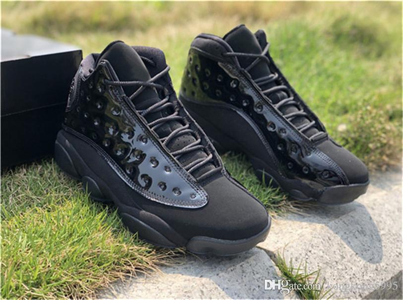 6bc07cb97a9 2019 Hottest Authentic 13 Cap And Gown Men Basketball Shoes Black ...