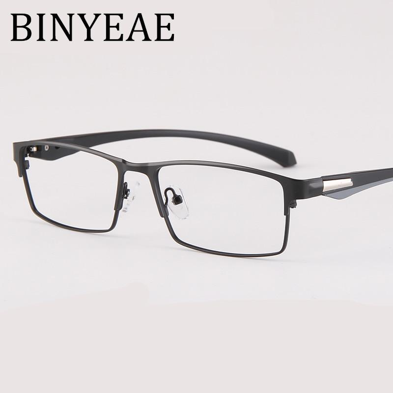 8239d3294f 2019 BINYEAE Metal Full Rim Glasses Men Rectangle Prescription Eyeglass  Frames For Optical Lenses Myopia And Reading From Marquesechriss