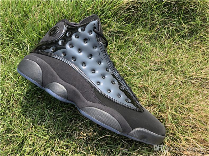 2eb600033b4 2019 2019 Best Authentic 13 Cap And Gown 13S Blackout Man Basketball Shoes  Real Carbon Fiber Sports Sneakers 414571 012 With Box From Systolic
