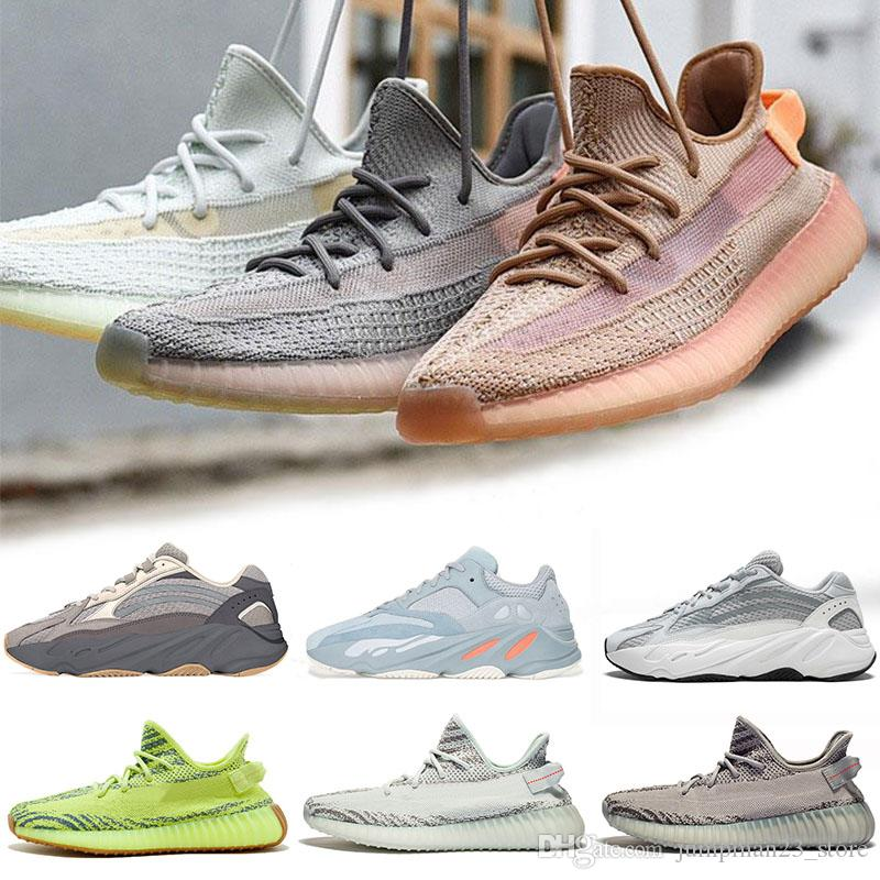 f9ce352b8c81d Adidas Yeezy Boost 350 V2 Real Boost 350 Clay V2 True Form Hyperspace  Hombres Mujeres Zapatos Para Correr Estático Sésamo Mantequilla Kanye West  Bred ...
