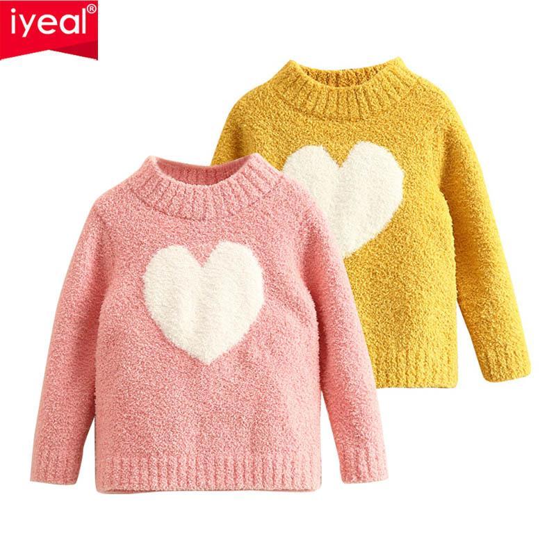 8fb93816e IYEAL Niños Suéteres de Manga Larga Otoño Cálido de Punto Bebé Niñas Suéter  Ropa de Niños Niñas Suéter Tops para 2-10 Y