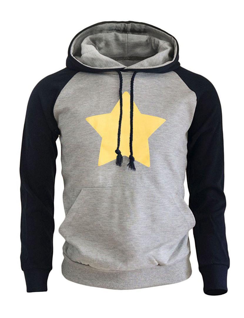 4df410157f4396 Acquista 2019 Nuovo Arrivo Felpe Con Cappuccio Da Uomo Stampa STEVEN  UNIVERSE STAR Moda Streetwear Harajuku Abbigliamento Di Marca Felpa Da Uomo  ...