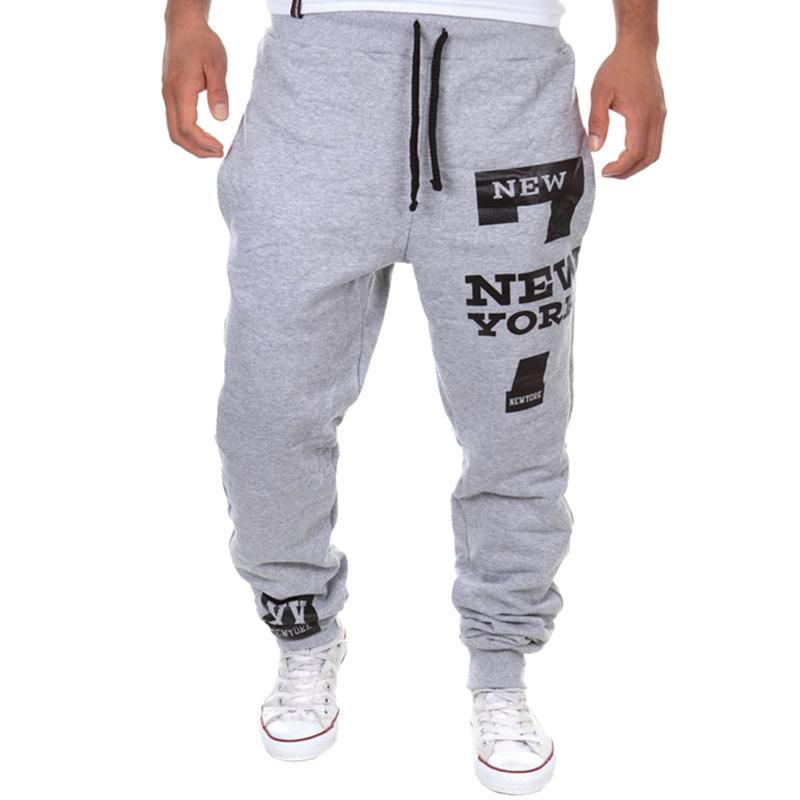 100% de qualité profiter de prix pas cher couleur n brillante Laamei Streetwear Male Sweatpants Pantalon Homme Men s Letters Pants Men s  Jogger Trousers Sportswear Men Printed Pants