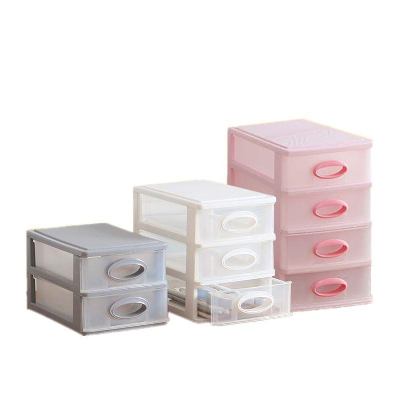 8a54f353c026 New Office Desktop Storage Box Plastic Multi-layer Small Drawer File  Cosmetics Organizer Desk Debris Stationery Finishing Rack