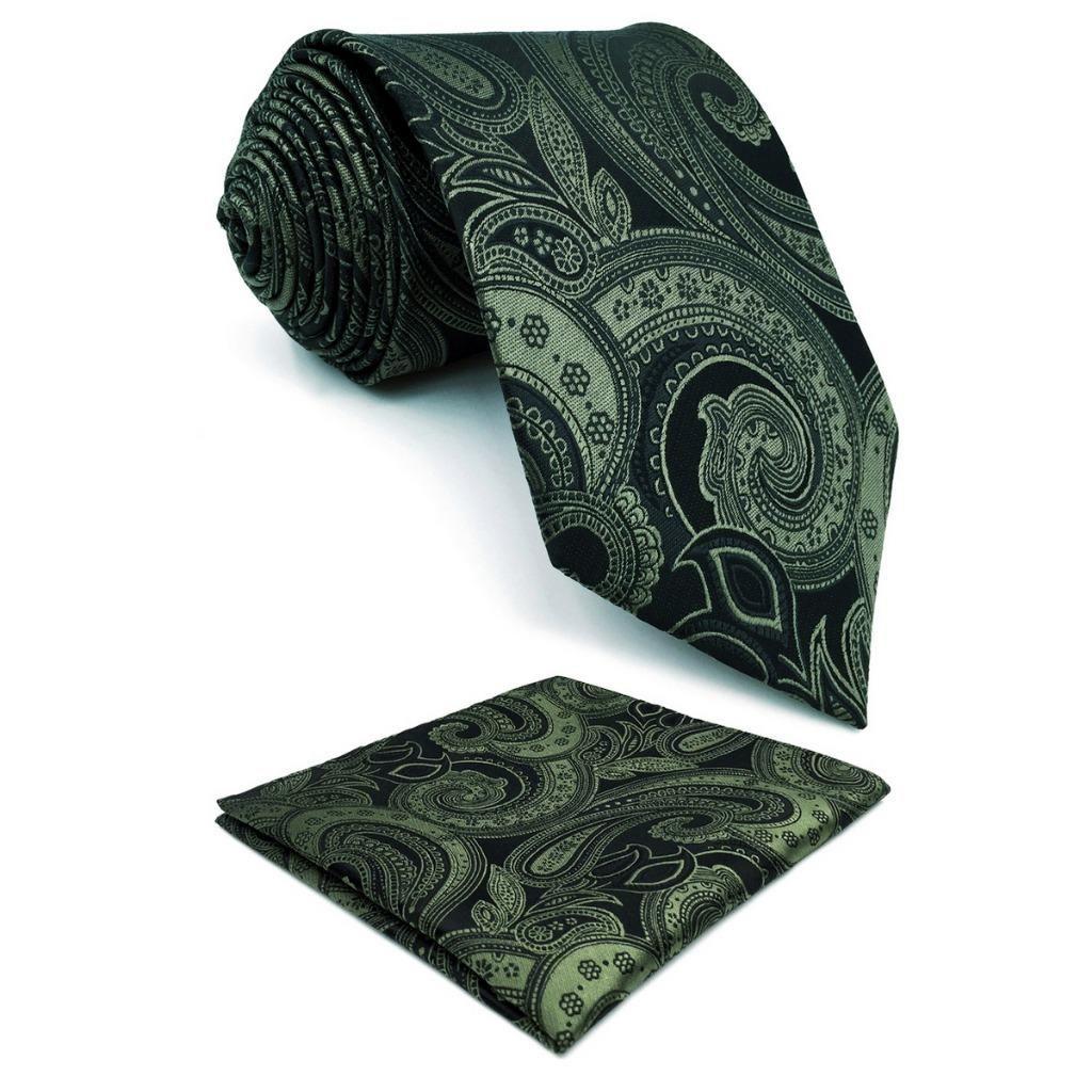 7aea74ce1a27 Deep Green Paisley Silk Mens Neckties Classic Fashion Pocket Square Xlong  Set Cheap Neckties Silk Tie From Zaonoodle, $34.22| DHgate.Com
