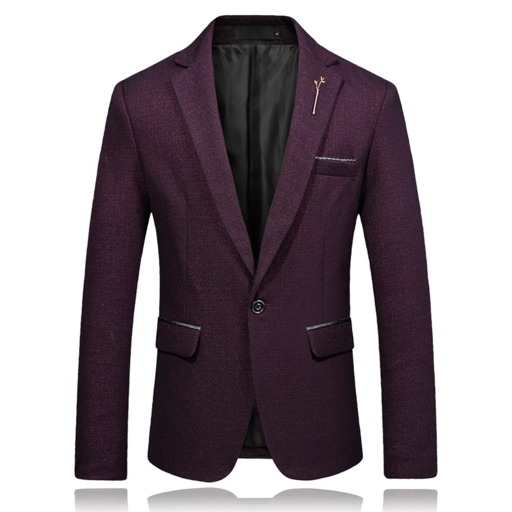 2fdece1bbea Male Casual Blazer Slim Fit One Button England Style Suit Jackets ...