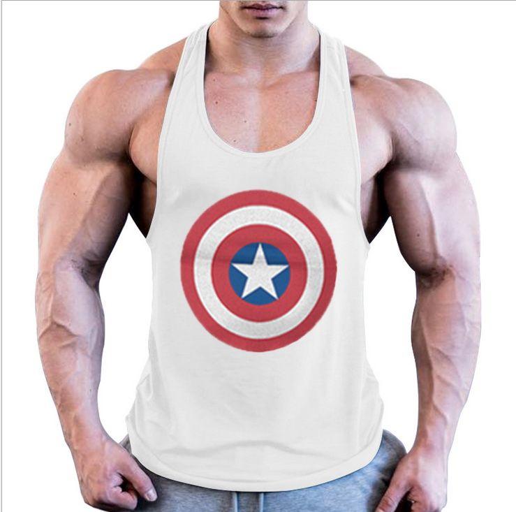 060381799a385 2019 2019 Super Hero Captain America Brand Clothing Singlets Mens Tank Top  Muscle Shirt Superman Stringer Bodybuilding Fitness Mens Vest From ...